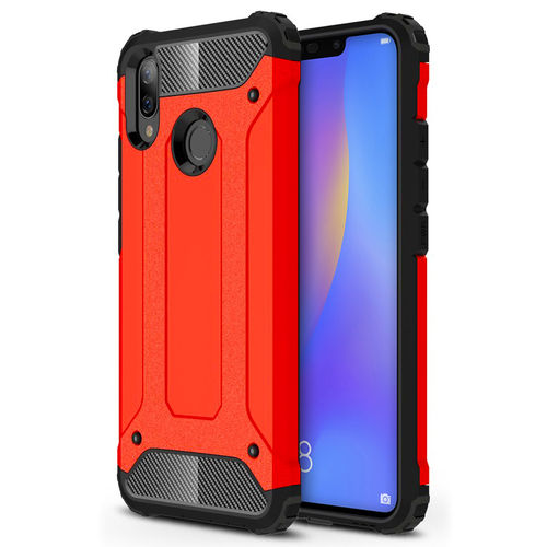 Military Defender Shockproof Case for Huawei Nova 3i - Red